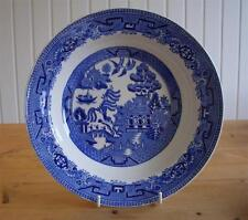 'Old Willow' Vintage Willow Pattern Wide Rimmed Soup Bowl
