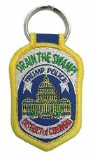 "Drain the Swamp! Trump Police District of Columbia Patch Key Chain - 2.75""x1.75"""