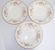 """Paragon """"Victoriana Rosa"""" bien inglés Bone China Conjunto de 3 con borde tazones de sopa."""