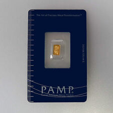 999 Gold Gold bullion Fortuna Pamp Suisse in Blister with certificate 0,3 Gram
