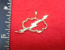 14KT EP LIGHTNING BOLT AND CLOUD CHARM PENDANT-2060