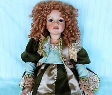 "Tuss Doll Carrot Top Curly Hair 31"" Collectible doll Tung Porcelain Carrot top"