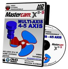 MASTERCAM X8-X9 MULTIAXIS 4/5 AXIS Beginner Video Tutorial Training Multi-axis