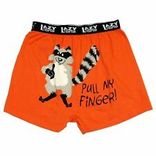 NEW Men's Raccoon Boxers by Lazy One Pull My Finger Medium