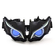 KT LED Eagle Eyes HID Headlight Assembly for Honda CBR1000RR 2012-2016 Blue Kit