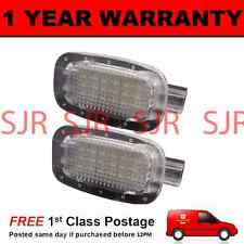 2X FOR MERCEDES A B C E G GL CLK CLASS 8 WHITE LED INTERIOR FOOTWELL BOOT LAMP