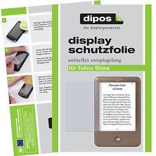 2x Tolino Shine Schutzfolie matt Displayschutzfolie Antireflex Testsieger dipos
