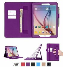 Samsung Galaxy Tab S2 9.7 Leather Case Card Slots Note Holder Hand Elastic Strap