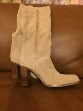 Womens Tan Nine West Tall Suede Boots Size 9