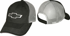 Chevrolet Chevy Bowtie Licensed Cotton, Polyester, Black, Gray Mesh Hat