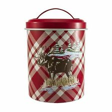 SONOMA Goods for Life Lodge 6 inch cookie/storage tin- MOOSE Design Brand New