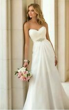 New White/Ivory Wedding Dress Bridesmaid Ball Evening Gown Size 6-16 UK