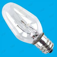 1x 7W  E12 CES 12mm Screw LIGHT BULB FOR PLUG IN (13A) DUSK TILL DAWN NIGHTLIGHT