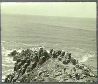 41 Lantern Glass Slide Land's End Tourists Cornwall Photo pre-1920s