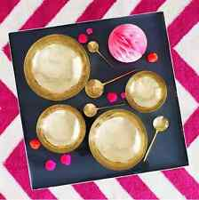 Set of 4 Mixed Size Polished Brass Decorative Spoons Bombay Duck Wedding Gift