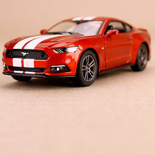 2015 Orange Ford Mustang GT Sports Model Car Striped 1:38 Scale Die-Cast