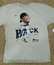 *RARE* NIKE WELCOME BACK KEN GRIFFEY JR. SEATTLE MARINERS MAX ONE SHIRT GREY L