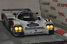 CODEX Finish Line + NIGHT VERSION PORSCHE 962c #17 Winner Le Mans 87  Norev 1:18