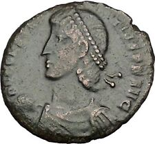 Constantius Ii son of Constantine the Great w labarum Ancient Roman Coin i50758