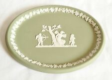 Wedgwood Oval Plaque - Green Jasperware Oval Plate - Multiple Available