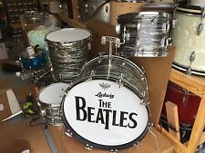 1966 Ludwig Black Oyster Pearl Ringo Drum Set!!