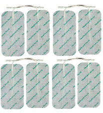 8 LARGE TENS ELECTRODE PADS Reusable For Tens Machines