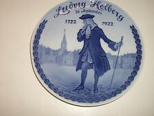 """ROYAL COPENHAGEN PLATE 1922 LUDWIG HOLBERG IN OLD SQUARE 9""""DIA  577 MADE RC#209"""
