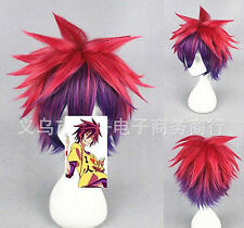 No Game No Life Sora Red to Purple Gradient Short Cosplay Party Wig