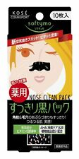 Kose Softymo NOSE CLEAN PACK BLACK 10-Pcs - nose pore removing strips