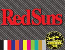 RED SUNS VINYL STICKER DECAL INITIAL D RX7  RACE ANIME DRIFT TOKYO JDM SPEED WRX