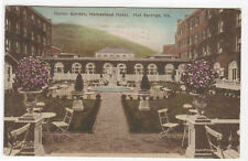 Italian Garden Homestead Hotel Hot Springs Virginia hand colored postcard