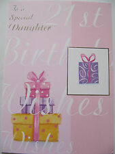 Paper Rose Special Birthday Cards Daughter 21st 21 Twentyone Greeting Card