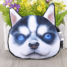 Lovely Dogs Face Cute Cartoon Stylish Wallets Makeup Coins Bags Purse Change Bag