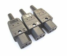 C15 10a IEC Connector Martin Kaiser standard Connector for mains power cables x3