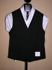 $165 new Jos A Bank Traveler suit seperates solid black vest  2XL Tailored Fit