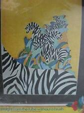 Vogart ZEBRAS Decorate & Embroider Stamped Fabric-16x20 Inches-To Use With B