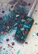 glitter mix acrylic gel Nail Art  HAWAIIAN GRAFFITI