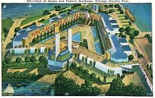 1933 Chicago World's Fair PC Hall of States and Federal Buildings