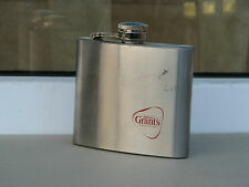 William Grant's scotch whisky flask metal bottle 5 oz red used rare scratches
