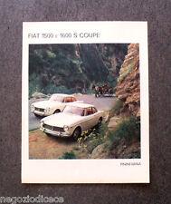 O490 - Advertising Pubblicità - 1964 - FIAT 1500 E 1600 S COUPE'