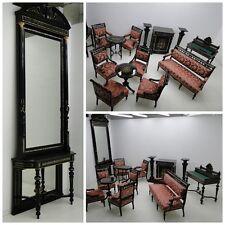 4944-Makartzimmer-Schreibtisch-Makartmöbel-Sitzgruppe-MAKART-Konsole-Spiegel-