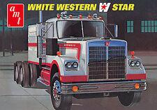 AMT White Western Star truck tractor + sleeper model kit 1/25
