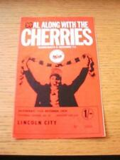 31/10/1970 Bournemouth v Lincoln City  (Creased, Team Changes). No obvious fault