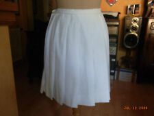 JUPE PLISSEE BLANCHE VINTAGE 60 T34/36/ WITHE PLEATED SKIRT 60'S VINTAGE