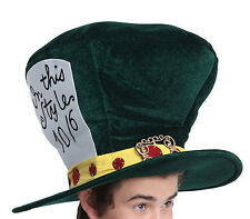 NEW Alice in Wonderland MAD HATTER Large Costume Accessory HAT for Adults NWT