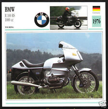 1976 BMW R100RS 1000cc (980cc) Bike Motorcycle Photo Spec Sheet Info Stat Card