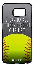Softball Christian Quote Hard Rubber Case Cover For Samsung Galaxy Note 5