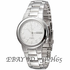 SEIKO 5 MEN'S WHITE ARABIC DIAL S/STEEL AUTOMATIC SNKA13K1 FREE UK POSTAGE