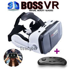3D VR Boss Headset Box Virtual Reality Glasses For iPhone 6S 7 Plus+Controller