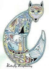ARCTIC FOX Animal Spirit Cling Unmounted Rubber Stamp EARTH ART Sue Coccia New